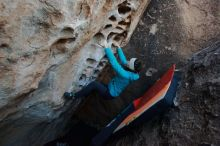 Bouldering in Hueco Tanks on 12/29/2019 with Blue Lizard Climbing and Yoga  Filename: SRM_20191229_1050260.jpg Aperture: f/4.5 Shutter Speed: 1/250 Body: Canon EOS-1D Mark II Lens: Canon EF 16-35mm f/2.8 L
