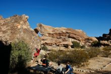 Bouldering in Hueco Tanks on 01/12/2020 with Blue Lizard Climbing and Yoga  Filename: SRM_20200112_1023030.jpg Aperture: f/8.0 Shutter Speed: 1/320 Body: Canon EOS-1D Mark II Lens: Canon EF 16-35mm f/2.8 L