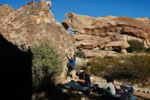 Bouldering in Hueco Tanks on 01/12/2020 with Blue Lizard Climbing and Yoga  Filename: SRM_20200112_1024350.jpg Aperture: f/8.0 Shutter Speed: 1/320 Body: Canon EOS-1D Mark II Lens: Canon EF 16-35mm f/2.8 L