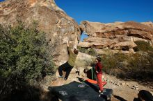 Bouldering in Hueco Tanks on 01/12/2020 with Blue Lizard Climbing and Yoga  Filename: SRM_20200112_1028250.jpg Aperture: f/8.0 Shutter Speed: 1/320 Body: Canon EOS-1D Mark II Lens: Canon EF 16-35mm f/2.8 L