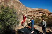 Bouldering in Hueco Tanks on 01/12/2020 with Blue Lizard Climbing and Yoga  Filename: SRM_20200112_1029260.jpg Aperture: f/8.0 Shutter Speed: 1/320 Body: Canon EOS-1D Mark II Lens: Canon EF 16-35mm f/2.8 L