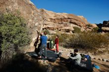 Bouldering in Hueco Tanks on 01/12/2020 with Blue Lizard Climbing and Yoga  Filename: SRM_20200112_1034250.jpg Aperture: f/7.1 Shutter Speed: 1/320 Body: Canon EOS-1D Mark II Lens: Canon EF 16-35mm f/2.8 L