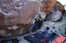 Bouldering in Hueco Tanks on 01/12/2020 with Blue Lizard Climbing and Yoga  Filename: SRM_20200112_1053320.jpg Aperture: f/5.6 Shutter Speed: 1/400 Body: Canon EOS-1D Mark II Lens: Canon EF 16-35mm f/2.8 L