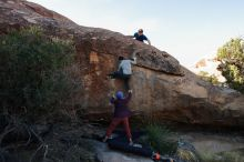 Bouldering in Hueco Tanks on 01/12/2020 with Blue Lizard Climbing and Yoga  Filename: SRM_20200112_1557500.jpg Aperture: f/7.1 Shutter Speed: 1/250 Body: Canon EOS-1D Mark II Lens: Canon EF 16-35mm f/2.8 L