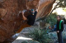 Bouldering in Hueco Tanks on 01/18/2020 with Blue Lizard Climbing and Yoga  Filename: SRM_20200118_1109170.jpg Aperture: f/4.0 Shutter Speed: 1/250 Body: Canon EOS-1D Mark II Lens: Canon EF 50mm f/1.8 II