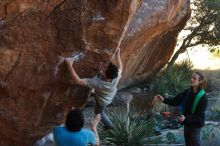 Bouldering in Hueco Tanks on 01/18/2020 with Blue Lizard Climbing and Yoga  Filename: SRM_20200118_1110530.jpg Aperture: f/4.5 Shutter Speed: 1/250 Body: Canon EOS-1D Mark II Lens: Canon EF 50mm f/1.8 II
