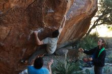 Bouldering in Hueco Tanks on 01/18/2020 with Blue Lizard Climbing and Yoga  Filename: SRM_20200118_1110550.jpg Aperture: f/4.0 Shutter Speed: 1/250 Body: Canon EOS-1D Mark II Lens: Canon EF 50mm f/1.8 II