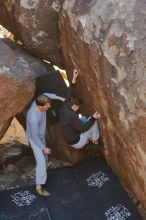 Bouldering in Hueco Tanks on 01/19/2020 with Blue Lizard Climbing and Yoga  Filename: SRM_20200119_1228500.jpg Aperture: f/2.8 Shutter Speed: 1/250 Body: Canon EOS-1D Mark II Lens: Canon EF 50mm f/1.8 II
