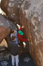 Bouldering in Hueco Tanks on 01/19/2020 with Blue Lizard Climbing and Yoga  Filename: SRM_20200119_1231000.jpg Aperture: f/3.2 Shutter Speed: 1/250 Body: Canon EOS-1D Mark II Lens: Canon EF 50mm f/1.8 II