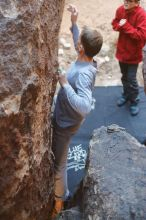 Bouldering in Hueco Tanks on 01/19/2020 with Blue Lizard Climbing and Yoga  Filename: SRM_20200119_1233210.jpg Aperture: f/2.5 Shutter Speed: 1/250 Body: Canon EOS-1D Mark II Lens: Canon EF 50mm f/1.8 II