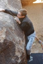 Bouldering in Hueco Tanks on 01/19/2020 with Blue Lizard Climbing and Yoga  Filename: SRM_20200119_1234570.jpg Aperture: f/3.5 Shutter Speed: 1/250 Body: Canon EOS-1D Mark II Lens: Canon EF 50mm f/1.8 II