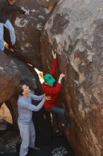 Bouldering in Hueco Tanks on 01/19/2020 with Blue Lizard Climbing and Yoga  Filename: SRM_20200119_1236450.jpg Aperture: f/5.0 Shutter Speed: 1/250 Body: Canon EOS-1D Mark II Lens: Canon EF 50mm f/1.8 II