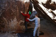 Bouldering in Hueco Tanks on 01/19/2020 with Blue Lizard Climbing and Yoga  Filename: SRM_20200119_1333080.jpg Aperture: f/5.6 Shutter Speed: 1/320 Body: Canon EOS-1D Mark II Lens: Canon EF 16-35mm f/2.8 L