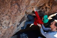 Bouldering in Hueco Tanks on 01/19/2020 with Blue Lizard Climbing and Yoga  Filename: SRM_20200119_1511480.jpg Aperture: f/5.6 Shutter Speed: 1/320 Body: Canon EOS-1D Mark II Lens: Canon EF 16-35mm f/2.8 L