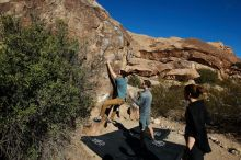 Bouldering in Hueco Tanks on 01/26/2020 with Blue Lizard Climbing and Yoga  Filename: SRM_20200126_1055110.jpg Aperture: f/8.0 Shutter Speed: 1/400 Body: Canon EOS-1D Mark II Lens: Canon EF 16-35mm f/2.8 L
