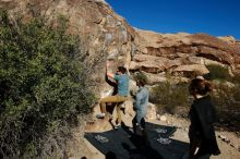 Bouldering in Hueco Tanks on 01/26/2020 with Blue Lizard Climbing and Yoga  Filename: SRM_20200126_1055400.jpg Aperture: f/8.0 Shutter Speed: 1/400 Body: Canon EOS-1D Mark II Lens: Canon EF 16-35mm f/2.8 L