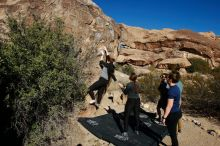 Bouldering in Hueco Tanks on 01/26/2020 with Blue Lizard Climbing and Yoga  Filename: SRM_20200126_1100150.jpg Aperture: f/7.1 Shutter Speed: 1/400 Body: Canon EOS-1D Mark II Lens: Canon EF 16-35mm f/2.8 L