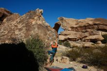 Bouldering in Hueco Tanks on 01/29/2020 with Blue Lizard Climbing and Yoga  Filename: SRM_20200129_1113290.jpg Aperture: f/13.0 Shutter Speed: 1/250 Body: Canon EOS-1D Mark II Lens: Canon EF 16-35mm f/2.8 L