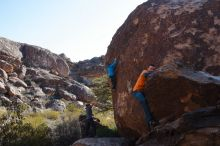 Bouldering in Hueco Tanks on 01/29/2020 with Blue Lizard Climbing and Yoga  Filename: SRM_20200129_1125140.jpg Aperture: f/9.0 Shutter Speed: 1/250 Body: Canon EOS-1D Mark II Lens: Canon EF 16-35mm f/2.8 L