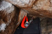 Bouldering in Hueco Tanks on 02/21/2020 with Blue Lizard Climbing and Yoga  Filename: SRM_20200221_1559220.jpg Aperture: f/4.0 Shutter Speed: 1/250 Body: Canon EOS-1D Mark II Lens: Canon EF 16-35mm f/2.8 L