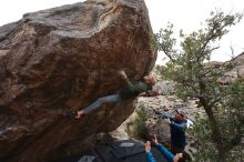 Bouldering in Hueco Tanks on 02/21/2020 with Blue Lizard Climbing and Yoga  Filename: SRM_20200221_1824491.jpg Aperture: f/5.0 Shutter Speed: 1/250 Body: Canon EOS-1D Mark II Lens: Canon EF 16-35mm f/2.8 L