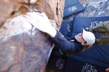 Bouldering in Hueco Tanks on 02/25/2020 with Blue Lizard Climbing and Yoga  Filename: SRM_20200225_1114490.jpg Aperture: f/2.8 Shutter Speed: 1/250 Body: Canon EOS-1D Mark II Lens: Canon EF 16-35mm f/2.8 L