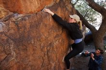 Bouldering in Hueco Tanks on 02/25/2020 with Blue Lizard Climbing and Yoga  Filename: SRM_20200225_1119140.jpg Aperture: f/6.3 Shutter Speed: 1/250 Body: Canon EOS-1D Mark II Lens: Canon EF 16-35mm f/2.8 L