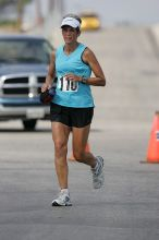 Karen Pearce placed second in her age groun at the Army Dillo half-marathon and 32K race.