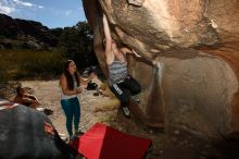 Bouldering in Hueco Tanks on 10/20/2017 with Blue Lizard Climbing and Yoga