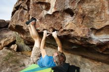 Bouldering in Hueco Tanks on 10/19/2018 with Blue Lizard Climbing and Yoga  Filename: SRM_20181019_0939570.jpg Aperture: f/5.6 Shutter Speed: 1/800 Body: Canon EOS-1D Mark II Lens: Canon EF 16-35mm f/2.8 L