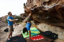 Bouldering in Hueco Tanks on 10/19/2018 with Blue Lizard Climbing and Yoga  Filename: SRM_20181019_0942230.jpg Aperture: f/5.6 Shutter Speed: 1/640 Body: Canon EOS-1D Mark II Lens: Canon EF 16-35mm f/2.8 L