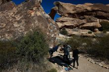 Bouldering in Hueco Tanks on 03/09/2019 with Blue Lizard Climbing and Yoga  Filename: SRM_20190309_1045290.jpg Aperture: f/5.6 Shutter Speed: 1/1000 Body: Canon EOS-1D Mark II Lens: Canon EF 16-35mm f/2.8 L