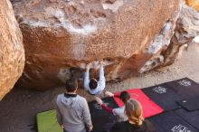 Bouldering in Hueco Tanks on 03/09/2019 with Blue Lizard Climbing and Yoga  Filename: SRM_20190309_1056130.jpg Aperture: f/5.6 Shutter Speed: 1/250 Body: Canon EOS-1D Mark II Lens: Canon EF 16-35mm f/2.8 L