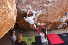 Bouldering in Hueco Tanks on 03/09/2019 with Blue Lizard Climbing and Yoga  Filename: SRM_20190309_1056300.jpg Aperture: f/5.6 Shutter Speed: 1/320 Body: Canon EOS-1D Mark II Lens: Canon EF 16-35mm f/2.8 L