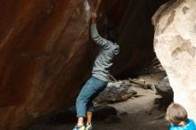 Bouldering in Hueco Tanks on 03/10/2019 with Blue Lizard Climbing and Yoga  Filename: SRM_20190310_1133570.jpg Aperture: f/2.8 Shutter Speed: 1/500 Body: Canon EOS-1D Mark II Lens: Canon EF 50mm f/1.8 II