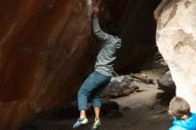 Bouldering in Hueco Tanks on 03/10/2019 with Blue Lizard Climbing and Yoga  Filename: SRM_20190310_1133571.jpg Aperture: f/2.8 Shutter Speed: 1/500 Body: Canon EOS-1D Mark II Lens: Canon EF 50mm f/1.8 II