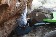 Bouldering in Hueco Tanks on 03/20/2019 with Blue Lizard Climbing and Yoga  Filename: SRM_20190320_0901180.jpg Aperture: f/2.8 Shutter Speed: 1/250 Body: Canon EOS-1D Mark II Lens: Canon EF 50mm f/1.8 II