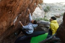 Bouldering in Hueco Tanks on 03/20/2019 with Blue Lizard Climbing and Yoga  Filename: SRM_20190320_0924500.jpg Aperture: f/3.5 Shutter Speed: 1/400 Body: Canon EOS-1D Mark II Lens: Canon EF 50mm f/1.8 II