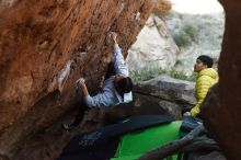 Bouldering in Hueco Tanks on 03/20/2019 with Blue Lizard Climbing and Yoga  Filename: SRM_20190320_0926020.jpg Aperture: f/3.5 Shutter Speed: 1/400 Body: Canon EOS-1D Mark II Lens: Canon EF 50mm f/1.8 II