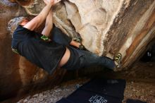 Bouldering in Hueco Tanks on 04/05/2019 with Blue Lizard Climbing and Yoga  Filename: SRM_20190405_1319580.jpg Aperture: f/4.0 Shutter Speed: 1/100 Body: Canon EOS-1D Mark II Lens: Canon EF 16-35mm f/2.8 L