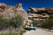 Bouldering in Hueco Tanks on 04/13/2019 with Blue Lizard Climbing and Yoga  Filename: SRM_20190413_0942450.jpg Aperture: f/5.6 Shutter Speed: 1/400 Body: Canon EOS-1D Mark II Lens: Canon EF 16-35mm f/2.8 L