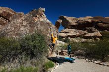 Bouldering in Hueco Tanks on 04/13/2019 with Blue Lizard Climbing and Yoga  Filename: SRM_20190413_0942580.jpg Aperture: f/5.6 Shutter Speed: 1/500 Body: Canon EOS-1D Mark II Lens: Canon EF 16-35mm f/2.8 L