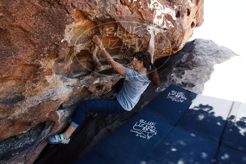 Bouldering in Hueco Tanks on 03/03/2019 with Blue Lizard Climbing and Yoga  Filename: SRM_20190303_1131440.jpg Aperture: f/5.6 Shutter Speed: 1/250 Body: Canon EOS-1D Mark II Lens: Canon EF 16-35mm f/2.8 L